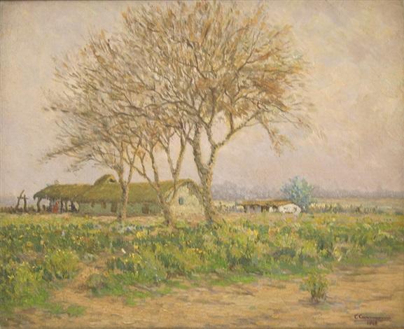 ranchos en el paisaje by ceferino carnacini