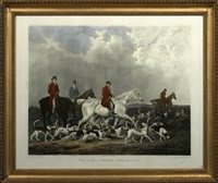 the earl of derby's stag hounds by richard woodman