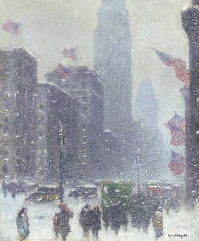 the avenue on lincolns birthday by guy carleton wiggins