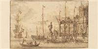 caprice architectural dans un port de méditerranée by jacobus storck