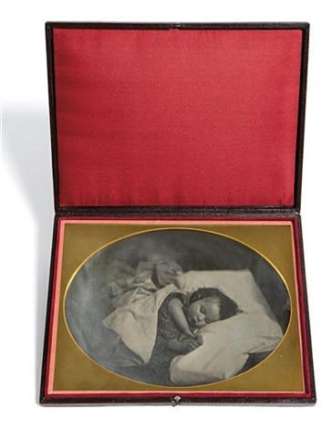 edward hawes asleep with hands together by albert sands southworth and josiah johnson hawes