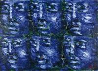 volti blu by xante battaglia