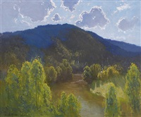 wattle and river by theodore penleigh boyd