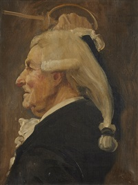 portrait d'homme (study) by jean paul laurens