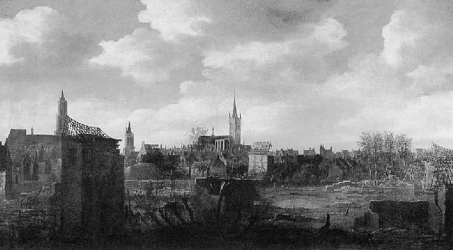 delft na de ontploffing van het kruitmagazijn op 12 oktober 1654 by daniel vosmaer