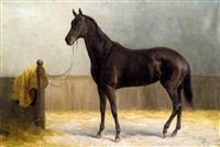 horse in the stable by casimir (count) markievicz