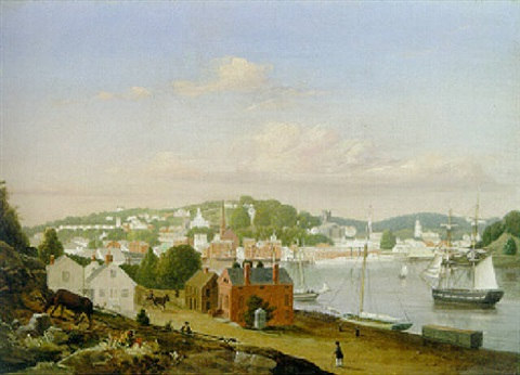 view of norwich connecticut by fitz henry lane