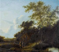 landschaft mit figuren by jan snellinck iii