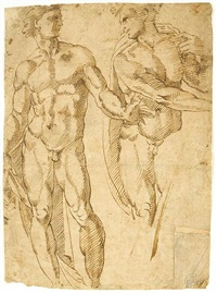 two figures (study) by baccio bandinelli