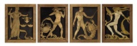 zodiac panels (in 4 parts) by c.a. llewellyn- roberts