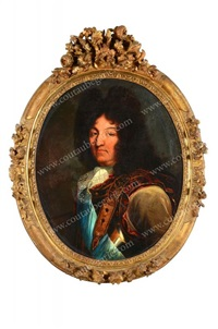 portrait de louis xiv, roi de france, légèrement de trois quarts (after hyacinthe rigaud) by french school (18)