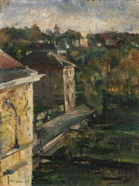 view from the studio, schwabing by lovis corinth
