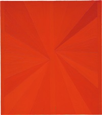 untitled (orange butterfly over green) by mark grotjahn