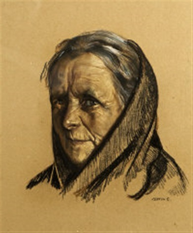 Aran Woman Also Known As The Matriarch By Sean Keating On Artnet