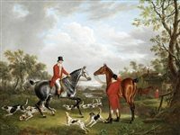 about to set out, hounds leaving kennels by charles towne
