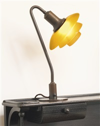 ph table lamp with type 2/2 shades by poul henningsen