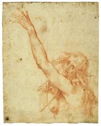 vieille femme nue en buste, le bras gauche levé (study) by giovanni mannozzi