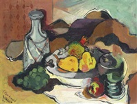 still life with green goblet by stanton macdonald-wright