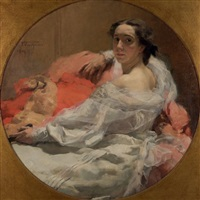 dame au sofa by franz van holder