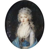 portrait miniature of empress elizaveta alexeevna by augustin ritt