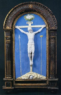 cristo crocifisso con i simboli della passione by luca della robbia