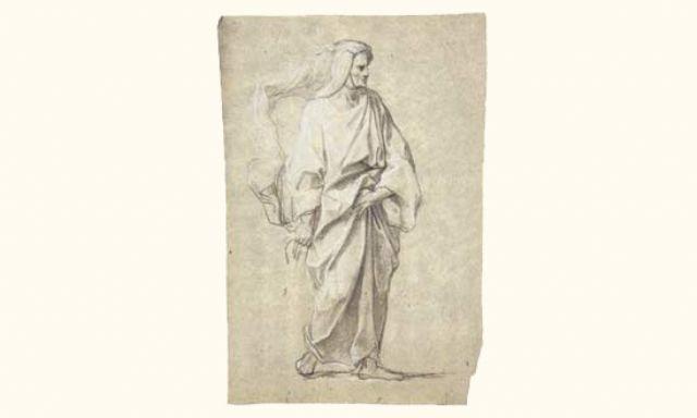 etude de personnage drapé debout by jean baptiste corneille