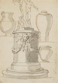 deux études d'après l'antique (2 studies) by augustin pajou