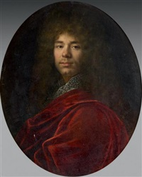 portrait d'homme au manteau rouge by french school (17)