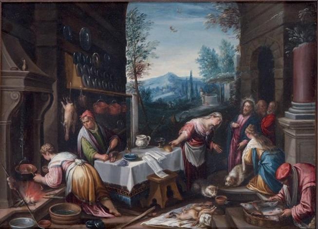 le christ chez marthe et marie (after bassano) by hans rottenhammer the elder