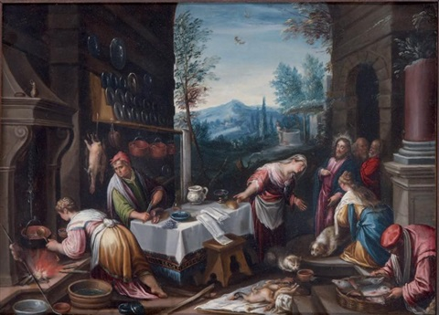 le christ chez marthe et marie after bassano by hans rottenhammer the elder