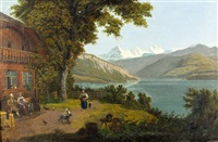 thunersee mit jungfraugruppe by samuel frey