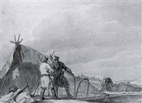 shooting a white hare at torino by john augustus atkinson
