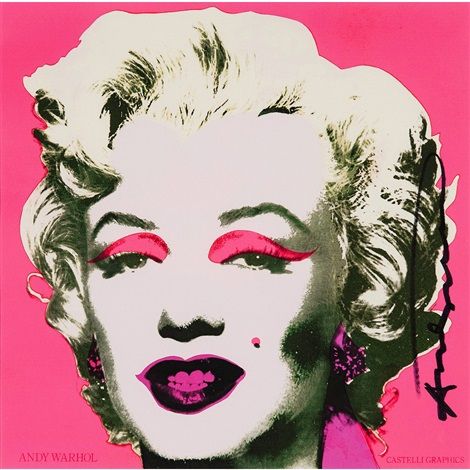 marilyn monroe castelli graphics invitation by andy warhol