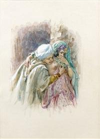 les amoureux by alphonse etienne dinet