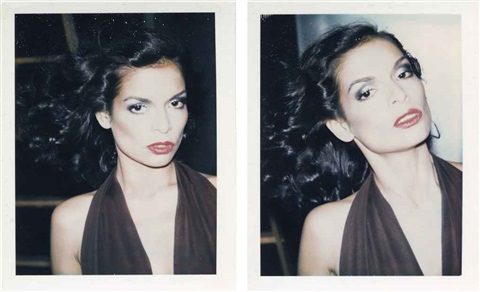 bianca jagger 2 works by andy warhol