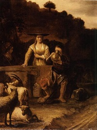 rebecca and eliezer at the well by constantijn daniel van renesse