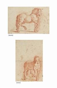 cheval vu de profil et cheval vu de trois-quart (recto-verso) by giovanni battista di matteo naldini