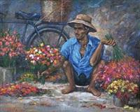 penjual bunga by sandy leonardo