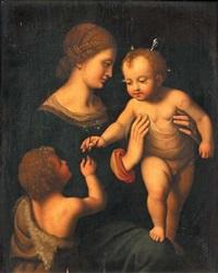 la vierge avec l'enfant jésus et saint-jean-baptiste enfant by bernardino luini