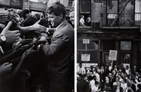 robert fitzgerald kennedy en campagne électorale, new york (+ another; 2 works) by vytas valaitis