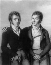 portrait of two brothers by françois bouchot