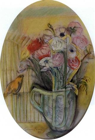 flores y canario by carmen parra