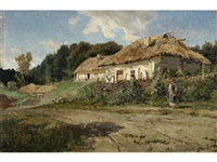 landscape with a hut by sergei ivanovich vasil'kovsky