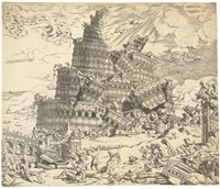 the fall of the tower of babel by cornelis anthonisz