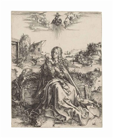 the holy family with the butterfly by albrecht dürer