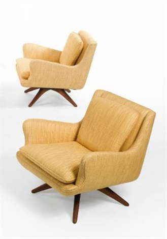 armchairs pair by vladimir kagan