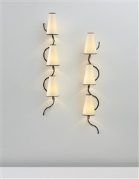 ondulation wall lights (pair) by jean royère