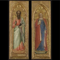 saint bartholomew (+ saint mary magdalene; 2 works) by spinello aretino