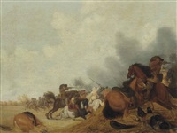 a cavalry skirmish by isaac junius