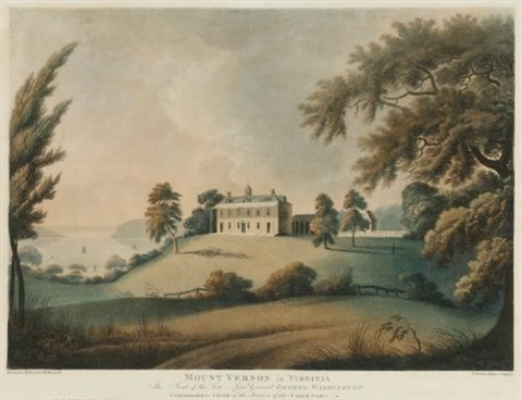 mount vernon in virginia after alexander robertson by francis jukes